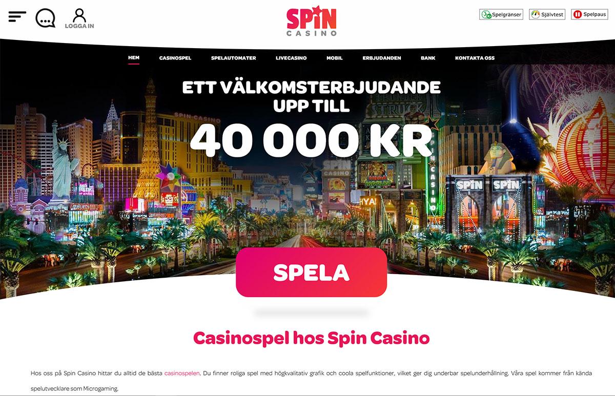 spin casino sverige