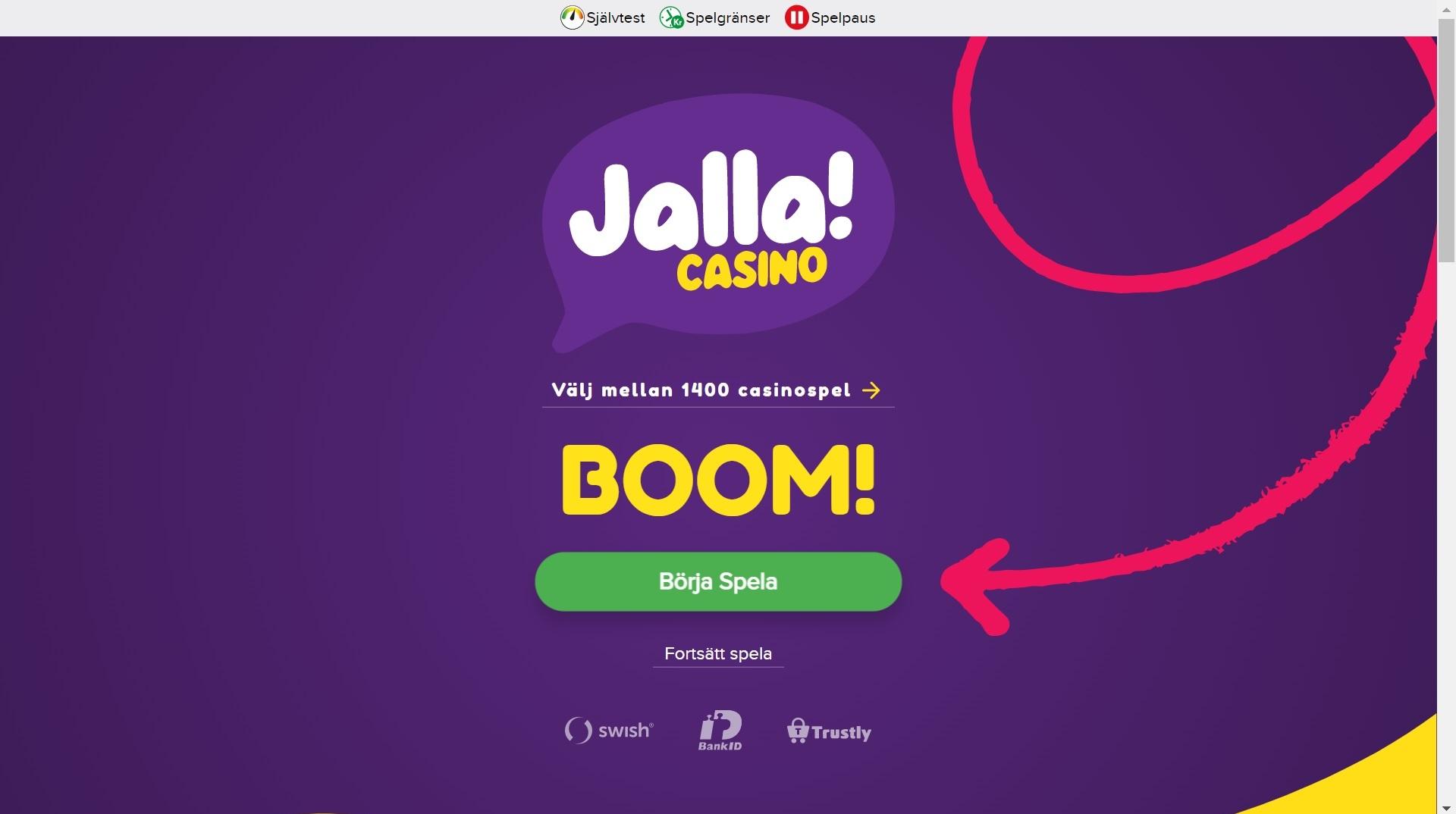 Jalla Casino - svensklicens.com