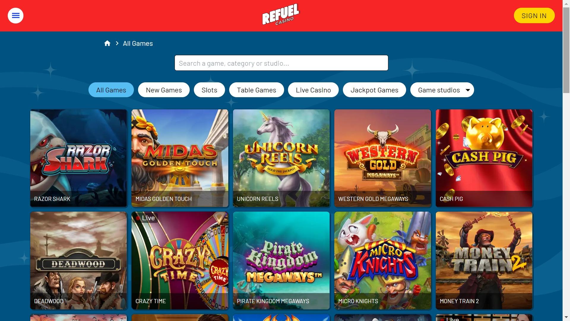 Refuel Casino - svensklicens.com